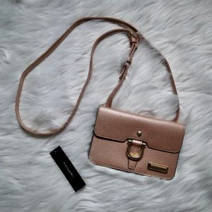 Tahari Rose Gold Mini Crossbody Purse
